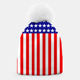 Thumbnail image of Patriotic USA Stars and Stripes Beanie, Live Heroes