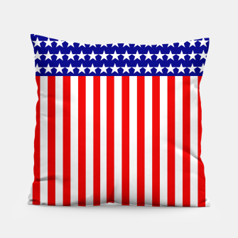 Thumbnail image of Patriotic USA Stars and Stripes Pillow, Live Heroes