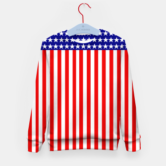 Thumbnail image of Patriotic USA Stars and Stripes Kid's sweater, Live Heroes