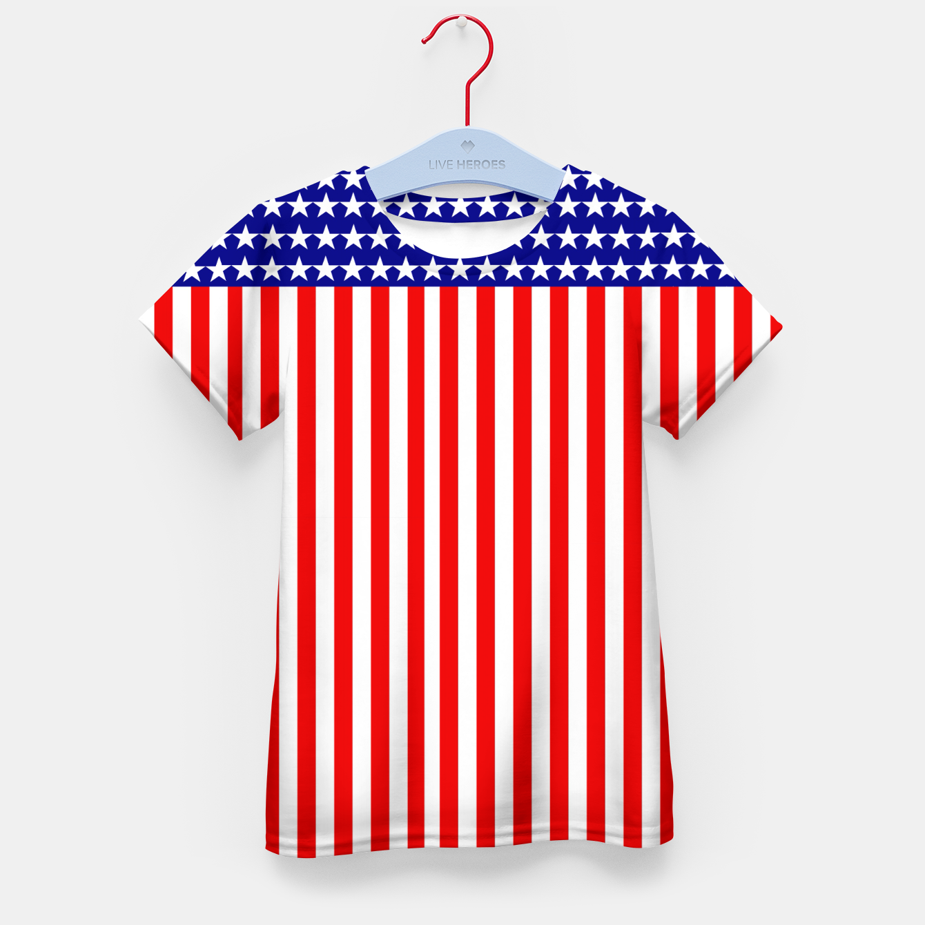 Image of Patriotic USA Stars and Stripes Kid's t-shirt - Live Heroes