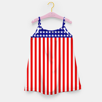 Thumbnail image of Patriotic USA Stars and Stripes Girl's dress, Live Heroes