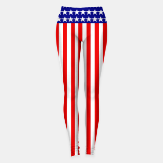 Thumbnail image of Patriotic USA Stars and Stripes Leggings, Live Heroes