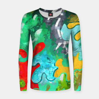 Thumbnail image of Blobs Collage Women sweater, Live Heroes