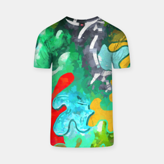 Thumbnail image of Blobs Collage T-shirt, Live Heroes