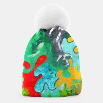Thumbnail image of Blobs Collage Beanie, Live Heroes