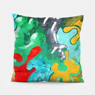 Thumbnail image of Blobs Collage Pillow, Live Heroes