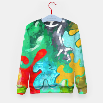 Thumbnail image of Blobs Collage Kid's sweater, Live Heroes