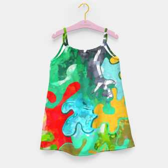 Thumbnail image of Blobs Collage Girl's dress, Live Heroes