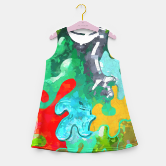 Thumbnail image of Blobs Collage Girl's summer dress, Live Heroes