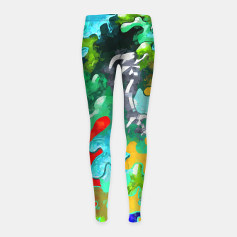 Thumbnail image of Blobs Collage Girl's leggings, Live Heroes
