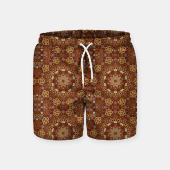 Miniature de image de Checkered Star Geometry  Swim Shorts, Live Heroes