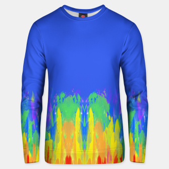 Thumbnail image of Flames Paint Abstract Blue Unisex sweater, Live Heroes