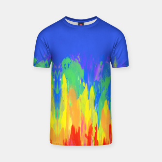 Thumbnail image of Flames Paint Abstract Classic Blue T-shirt, Live Heroes