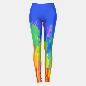 Thumbnail image of Flames Paint Abstract Blue Leggings, Live Heroes