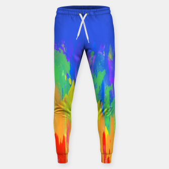 Thumbnail image of Flames Paint Abstract Blue Sweatpants, Live Heroes