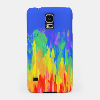 Thumbnail image of Flames Paint Abstract Blue Samsung Case, Live Heroes