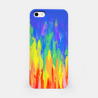 Thumbnail image of Flames Paint Abstract Blue iPhone Case, Live Heroes