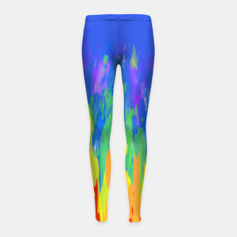 Thumbnail image of Flames Paint Abstract Blue Girl's leggings, Live Heroes