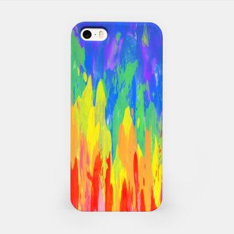 Thumbnail image of Flames Paint Abstract Classic Blue iPhone Case, Live Heroes