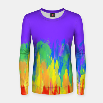 Thumbnail image of Flames Paint Abstract Purple Women sweater, Live Heroes