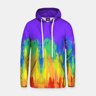 Thumbnail image of Flames Paint Abstract Purple Hoodie, Live Heroes