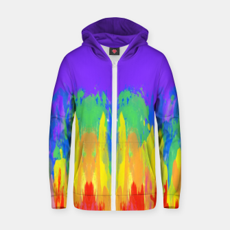 Thumbnail image of Flames Paint Abstract Purple Zip up hoodie, Live Heroes