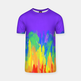 Thumbnail image of Flames Paint Abstract Purple T-shirt, Live Heroes