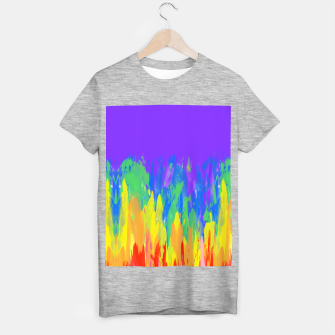 Thumbnail image of Flames Paint Abstract Purple T-shirt regular, Live Heroes