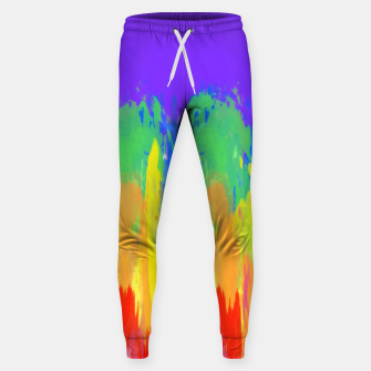 Thumbnail image of Flames Paint Abstract Purple Sweatpants, Live Heroes