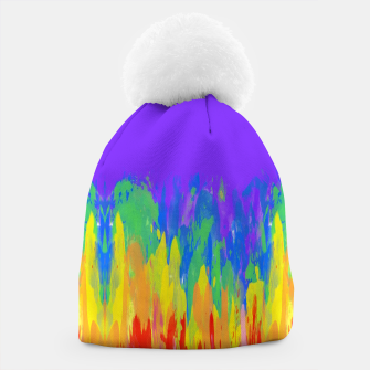 Thumbnail image of Flames Paint Abstract Purple Beanie, Live Heroes