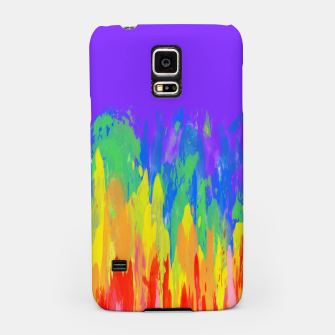 Thumbnail image of Flames Paint Abstract Purple Samsung Case, Live Heroes