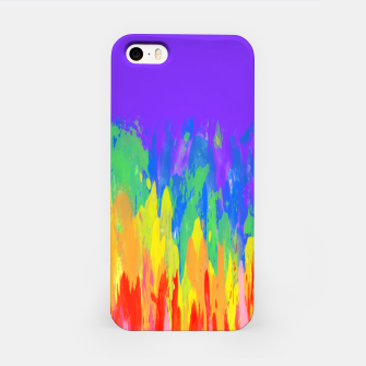 Thumbnail image of Flames Paint Abstract Purple iPhone Case, Live Heroes