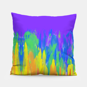 Thumbnail image of Flames Paint Abstract Purple Pillow, Live Heroes