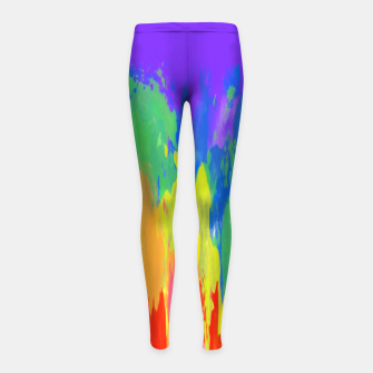Thumbnail image of Flames Paint Abstract Purple Girl's leggings, Live Heroes