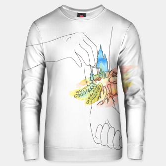 Thumbnail image of band aid Unisex sweater, Live Heroes