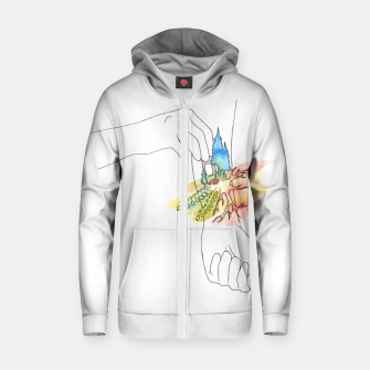 Thumbnail image of band aid Zip up hoodie, Live Heroes