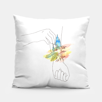 Thumbnail image of band aid Pillow, Live Heroes
