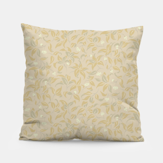 Thumbnail image of The wall of orange buds and blossoms in antique Pillow, Live Heroes