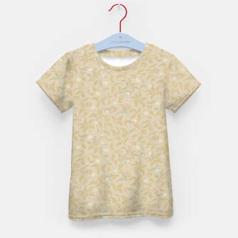 Thumbnail image of The wall of orange buds and blossoms in antique Kid's t-shirt, Live Heroes