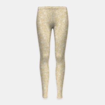 Thumbnail image of The wall of orange buds and blossoms in antique Girl's leggings, Live Heroes