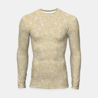 Thumbnail image of The wall of orange buds and blossoms in antique Longsleeve rashguard , Live Heroes