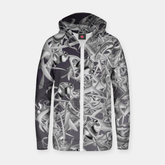 Thumbnail image of organic flow  Zip up hoodie, Live Heroes
