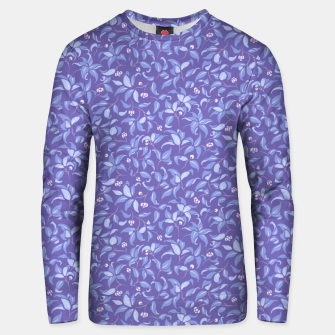 Thumbnail image of The wall of orange buds and blossoms in lavender Unisex sweater, Live Heroes
