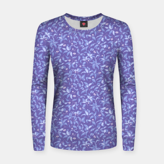 Thumbnail image of The wall of orange buds and blossoms in lavender Women sweater, Live Heroes