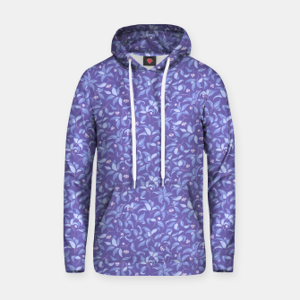 Thumbnail image of The wall of orange buds and blossoms in lavender Hoodie, Live Heroes