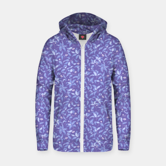 Thumbnail image of The wall of orange buds and blossoms in lavender Zip up hoodie, Live Heroes