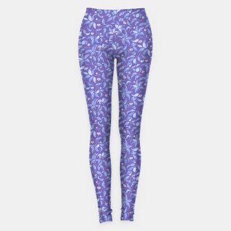 Thumbnail image of The wall of orange buds and blossoms in lavender Leggings, Live Heroes