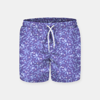 Thumbnail image of The wall of orange buds and blossoms in lavender Swim Shorts, Live Heroes