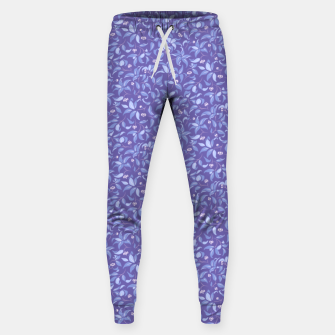 Thumbnail image of The wall of orange buds and blossoms in lavender Sweatpants, Live Heroes