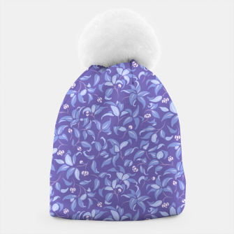Thumbnail image of The wall of orange buds and blossoms in lavender Beanie, Live Heroes